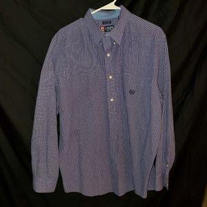 Chaps Purple Gingham long sleeve